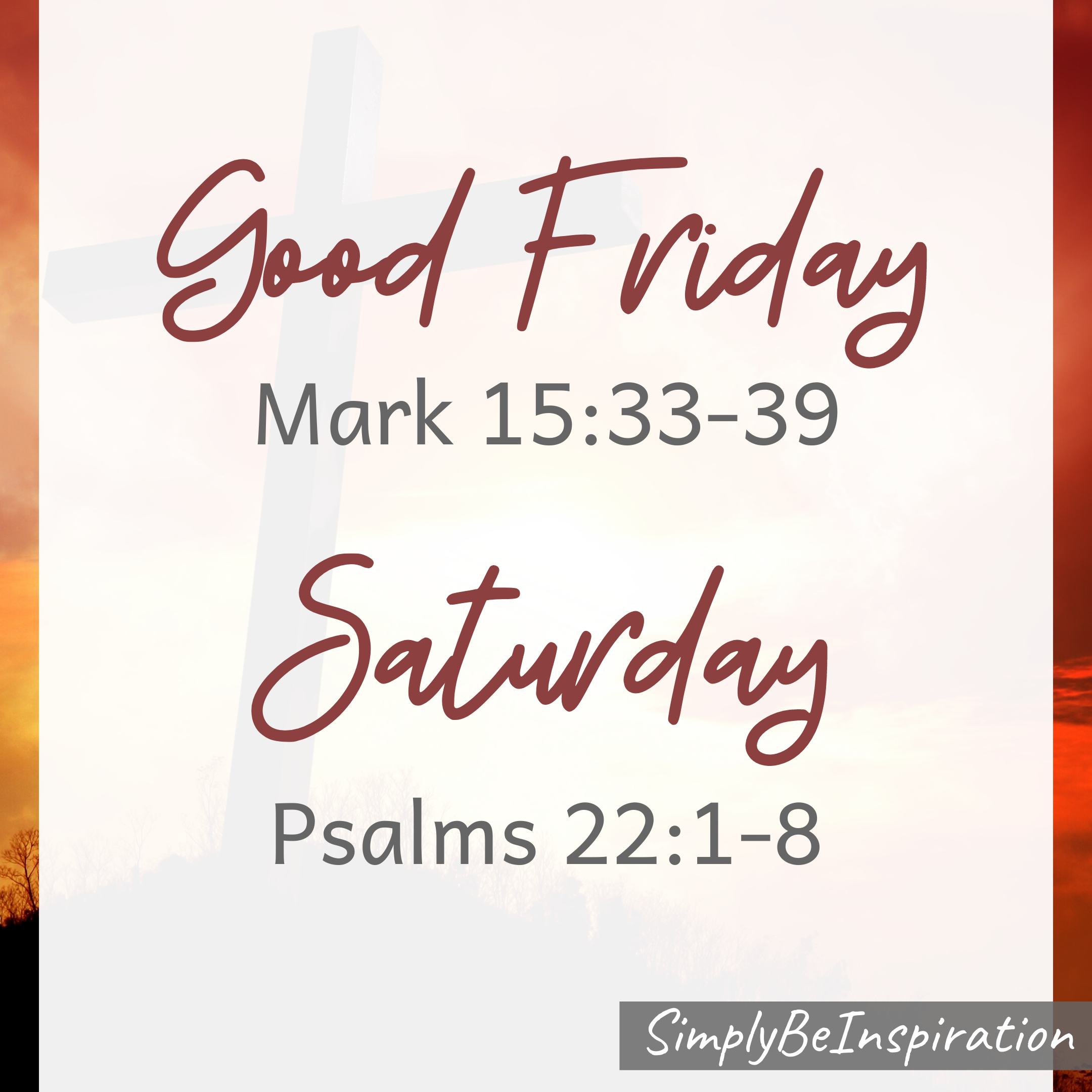 Good Friday Mark 15:33-39