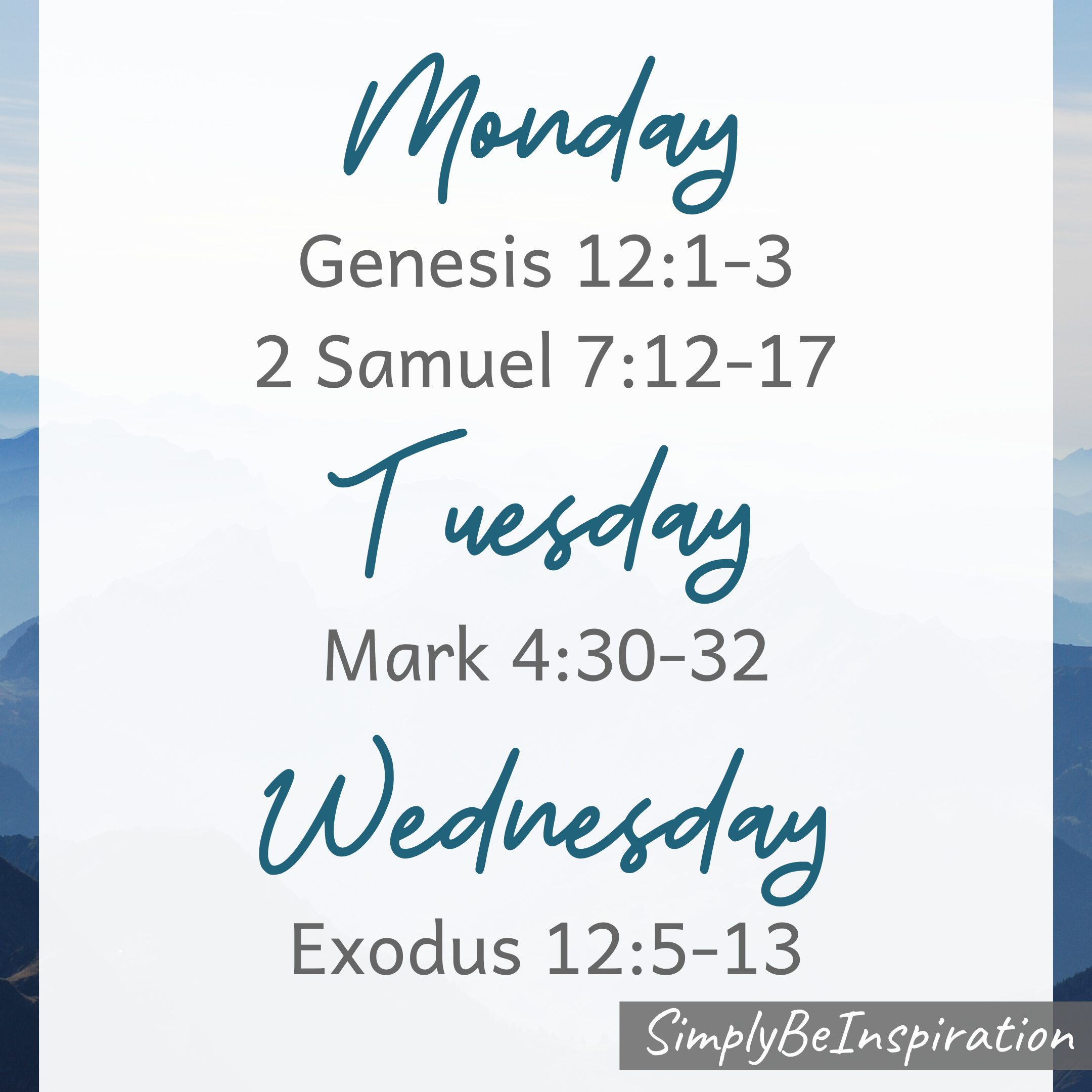 Holy Week Bible Readings