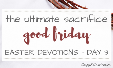 Easter Devotions Series – Good Friday