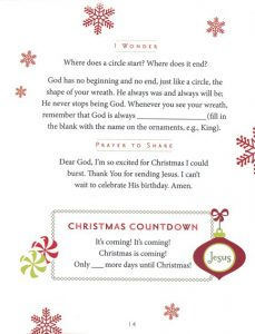 Christmas Advent Counting Book