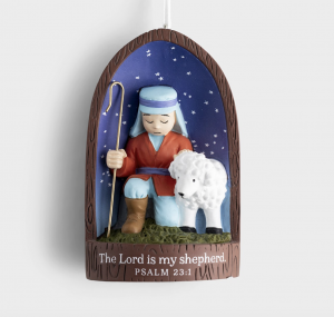 The Lord Is My Shepherd Christmas Tree Ornament